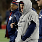 New England Patriots head coach Bill Belichick watches during the last few minutes the second half of the NFL football AFC Championship football game against the Baltimore Ravens in Foxborou &#8230;