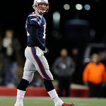 New England Patriots quarterback Tom Brady  after throwing an interception during the second half of the NFL football AFC Championship football game against the Baltimore Ravens in Foxboroug &#8230;