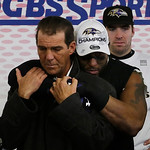 Baltimore Ravens owner Stephen J. Bisciotti is hugged by Ray Lewis after the NFL football AFC Championship football game against the New England Patriots in Foxborough, Mass., Sunday, Jan. 2 &#8230;