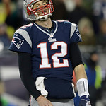 New England Patriots quarterback Tom Brady reacts following an incomplete pass during the second half of the NFL football AFC Championship football game against the Baltimore Ravens in Foxbo &#8230;
