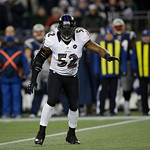 Baltimore Ravens inside linebacker Ray Lewis (52) waits for the snap during the second half of the NFL football AFC Championship football game against the New England Patriots in Foxborough, &#8230;
