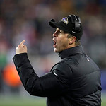 Baltimore Ravens head coach John Harbaugh gives instructions during the second half of the NFL football AFC Championship football game against the New England Patriots in Foxborough, Mass.,  &#8230;