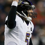 Baltimore Ravens quarterback Joe Flacco celebrates after an 11-yard touchdown pass to Anquan Boldin during the second half of the NFL football AFC Championship football game against the New  &#8230;