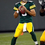 Green Bay Packers quarterback Graham Harrell throws during the first half of a preseason NFL football game against the Cleveland Browns Thursday, Aug. 16, 2012, in Green Bay, Wis. (AP Photo/ …
