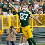 Green Bay Packers' Jordy Nelson can't quite catch a ball during the first half of a preseason NFL football game against the Cleveland Browns Thursday, Aug. 16, 2012, in Green Bay, Wis. (AP P …