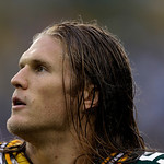 Green Bay Packers' Clay Matthews is seen during the first half of a preseason NFL football game against the Cleveland Browns Thursday, Aug. 16, 2012, in Green Bay, Wis. (AP Photo/Jeffrey Phe …