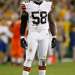 Cleveland Browns' Marcus Benard is seen during the first half of a preseason NFL football game against the Green Bay Packers Thursday, Aug. 16, 2012, in Green Bay, Wis. (AP Photo/Mike Roemer …