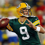 Green Bay Packers quarterback B.J. Coleman throws during the second half of a preseason NFL football game against the Cleveland Browns Thursday, Aug. 16, 2012, in Green Bay, Wis. (AP Photo/M …