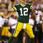 Green Bay Packers' Aaron Rodgers throws during the first half of a preseason NFL football game against the Cleveland Browns Thursday, Aug. 16, 2012, in Green Bay, Wis. (AP Photo/Jeffrey Phel …