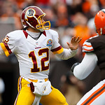 Washington Redskins quarterback Kirk Cousins (12) passes the ball against the Cleveland Browns during an NFL football game in Cleveland, Sunday, Dec. 16, 2012. (AP Photo/Rick Osentoski)