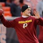 Washington Redskins quarterback Kirk Cousins warms up before an NFL football game against the Cleveland Browns Sunday, Dec. 16, 2012, in Cleveland. (AP Photo/Mark Duncan)