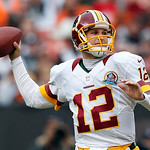 Washington Redskins quarterback Kirk Cousins passes against the Cleveland Browns in the first quarter of an NFL football game in Cleveland, Sunday, Dec. 16, 2012. (AP Photo/Rick Osentoski)