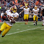 Washington Redskins wide receiver Leonard Hankerson (85) runs free to the end zone on a 2-yard touchdown catch against the Cleveland Browns in the third quarter of an NFL football game on Su …