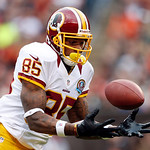 Washington Redskins wide receiver Leonard Hankerson catches a 54-yard touchdown pass against the Cleveland Browns in the first quarter of an NFL football game in Cleveland, Sunday, Dec. 16,  &#8230;