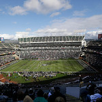 The Cleveland Browns kick off to the Oakland Raiders during the first quarter of an NFL football game in Oakland, Calif., Sunday, Dec. 2, 2012. (AP Photo/Marcio Jose Sanchez)