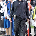 Oakland Raiders head coach Dennis Allen watches during the second half of an NFL football game against the Cleveland Browns in Oakland, Calif., Sunday, Dec. 2, 2012. (AP Photo/Tony Avelar)