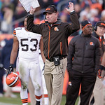 Cleveland Browns head coach Pat Shurmur reacts during  of an NFL football game against the Denver Broncos, Sunday, Dec. 23, 2012, in Denver. (AP Photo/Joe Mahoney)