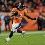 Denver Broncos running back Knowshon Moreno (27) runs the ball against the Cleveland Browns during an NFL football game, Sunday, Dec. 23, 2012, in Denver. (AP Photo/Jack Dempsey)