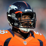 Denver Broncos outside linebacker Von Miller is pictured during an NFL football game against the Cleveland Browns, Sunday, Dec. 23, 2012, in Denver. (AP Photo/Jack Dempsey)