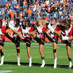 Denver Broncos cheerleaders perform during an NFL football game between the Denver Broncos and the Cleveland Browns, Sunday, Dec. 23, 2012, in Denver. (AP Photo/Jack Dempsey)