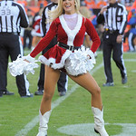 Denver Broncos cheerleaders perform in their Santa outfits during an NFL football game against the Cleveland Browns, Sunday, Dec. 23, 2012, in Denver. (AP Photo/Jack Dempsey)