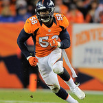 Denver Broncos outside linebacker Von Miller rushes during the fourth quarter against the Cleveland Browns during a NFL football game, Sunday, Dec. 23, 2012, in Denver. (AP Photo/Jack Dempse …