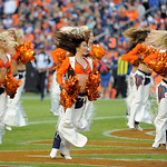 Denver Broncos cheerleaders perform during  an NFL football game against the Cleveland Browns, Sunday, Dec. 23, 2012, in Denver. (AP Photo/Jack Dempsey)