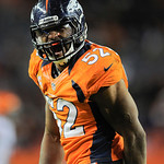 Denver Broncos outside linebacker Wesley Woodyard (52) reacts after sacking Cleveland Browns quarterback Colt McCoy (12) in the fourth quarter of an NFL football game, Sunday, Dec. 23, 2012, &#8230;