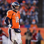 Denver Broncos quarterback Peyton Manning looks down field during the third quarter of an NFL football game against the Cleveland Browns, Sunday, Dec. 23, 2012, in Denver. (AP Photo/Joe Maho &#8230;