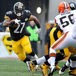 Pittsburgh Steelers running back Jonathan Dwyer (27) carries the ball against the Cleveland Browns during the first quarter of an NFL football game on Sunday, Dec. 30, 2012, in Pittsburgh. P …