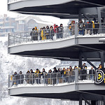 Fans watch an NFL football game from the ramps between the Cleveland Browns and Pittsburgh Steelers at Heinz Field on Sunday, Dec. 30, 2012, in Pittsburgh. Pittsburgh won 24-10.(AP Photo/Don …
