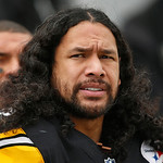 Pittsburgh Steelers strong safety Troy Polamalu (43) sits on the sidelines during the fourth quarter of an NFL football game against the Cleveland Browns in Pittsburgh, Sunday, Dec. 30, 2012 …