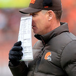 Cleveland Browns head coach Pat Shurmur watches from the sidelines in the first half of an NFL football game against the Kansas City Chiefs Sunday, Dec. 9, 2012, in Cleveland. (AP Photo/Tony …