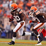 Cleveland Browns running back Montario Hardesty (20) runs against the Kansas City Chiefs in the second half of an NFL football game in Cleveland, Sunday, Dec. 9, 2012. (AP Photo/Rick Osentos …