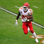 Kansas City Chiefs running back Jamaal Charles runs against the Cleveland Browns in the second quarter of an NFL football game Sunday, Dec. 9, 2012, in Cleveland. (AP Photo/Tony Dejak)