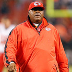 Kansas City Chiefs head coach Romeo Crennel walks off the field after a 30-7 loss to the Cleveland Browns in an NFL football game in Cleveland, Sunday, Dec. 9, 2012. (AP Photo/Rick Osentoski …