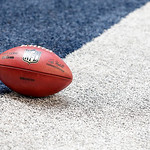 An NFL football sits the end zone during first half of an NFL football game between the Dallas Cowboys and Cleveland Browns Sunday, Nov. 18, 2012 in Arlington, Texas. (AP Photo/Sharon Ellman …