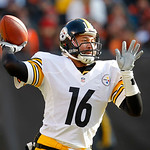 Pittsburgh Steelers quarterback Charlie Batch (16) throws during an NFL football game against the Cleveland Browns Sunday, Nov. 25, 2012, in Cleveland. (AP Photo/Tony Dejak)