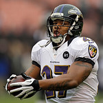 Baltimore Ravens running back Ray Rice warms up before an NFL football game against the Cleveland Browns Sunday, Nov. 4, 2012, in Cleveland. (AP Photo/Mark Duncan)
