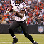 Baltimore Ravens wide receiver Torrey Smith (82) runs the ball for a touchdown against the Cleveland Browns in the first half of an NFL football game in Cleveland, Sunday, Nov. 4, 2012. (AP  …