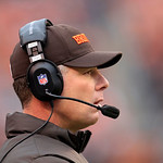 Cleveland Browns head coach Pat Shurmur watches from the sidelines during an NFL football game against the Baltimore Ravens Sunday, Nov. 4, 2012, in Cleveland. (AP Photo/Tony Dejak)