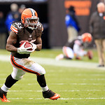 Cleveland Browns running back Trent Richardson (33) runs the ball during an NFL football game against the Baltimore Ravens Sunday, Nov. 4, 2012, in Cleveland. (AP Photo/Tony Dejak)