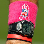 An official's watch notes the two minute warning in the first half of an NFL football game between the Cleveland Browns and the Cincinnati Bengals Sunday, Oct. 14, 2012, in Cleveland. (AP Ph …