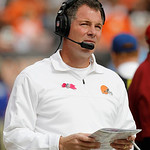 Cleveland Browns head coach Pat Shurmur watches during an NFL football game against the Cincinnati Bengals Sunday, Oct. 14, 2012, in Cleveland. (AP Photo/Tony Dejak)