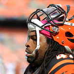 Cincinnati Bengals running back BenJarvus Green-Ellis warms up before an NFL football game against the Cleveland Browns Sunday, Oct. 14, 2012, in Cleveland. (AP Photo/Scott R. Galvin)