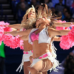 The Indianapolis Colts wear pink outfits for breast cancer awareness during the first half of an NFL football game against the Cleveland Browns Sunday, Oct. 21, 2012, in Indianapolis. (AP Ph …