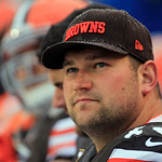 Cleveland Browns offensive tackle Joe Thomas watches from the bench in the first quarter of an NFL football game against the San Diego Chargers Sunday, Oct. 28, 2012, in Cleveland. (AP Photo &#8230;