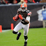 Cleveland Browns wide receiver Josh Gordon (13) runs the ball against the San Diego Chargers in an NFL football game Sunday, Oct. 28, 2012, in Cleveland. (AP Photo/Tony Dejak)