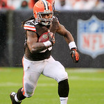 Cleveland Browns running back Trent Richardson runs against the San Diego Chargers in the first quarter of an NFL football game Sunday, Oct. 28, 2012, in Cleveland. (AP Photo/Tony Dejak)