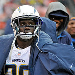 San Diego Chargers running back Ronnie Brown watches from the bench in the first half of an NFL football game against the Cleveland Browns Sunday, Oct. 28, 2012, in Cleveland. (AP Photo/Phil …